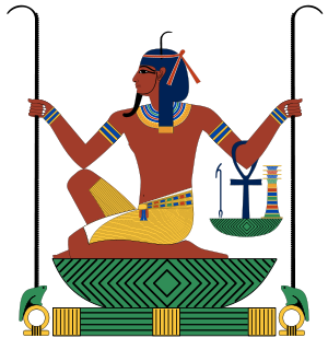 An aspect of Heh, an ancient Egyptian god. Heh...