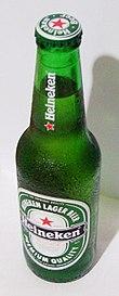 Bottiglia di birra Heineken