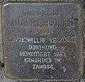 Hellenthal-Blumenthal, Alte Schulstraße zwischen Nr. 6 und 8, Stolperstein Maud Rothschild.jpg