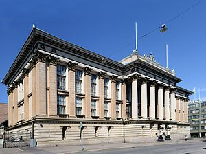 National Archives of Finland - Main building of the Finnish National Archives at the Rauhankatu Street in Helsinki.