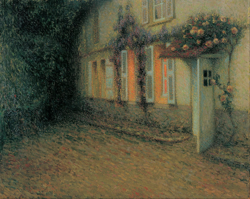 Henri Le Sidaner - Roses and Wisterias on the House - Google Art Project.jpg
