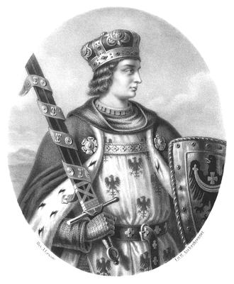 Henryk IV Probus - 19th century portrait by Aleksander Lesser
