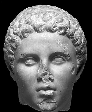 Hephaestion - Hephaestion marble head, as of September 2015 housed in the Getty Museum
