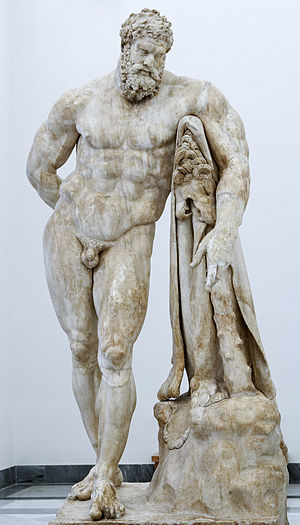 Farnese collection - The Farnese Hercules, a Roman copy from the original by Lysippos (Naples National Archaeological Museum)