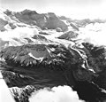 Herron Glacier, valley glacier with medial moraine, August 26, 1969 (GLACIERS 5164).jpg