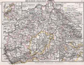 Karte der Provinz Hessen-Nassau