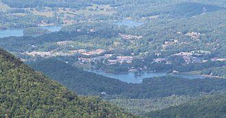 Hiawassee, Georgia - Hiawassee viewed from Brasstown Bald.