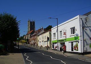 Carisbrooke village in the United Kingdom