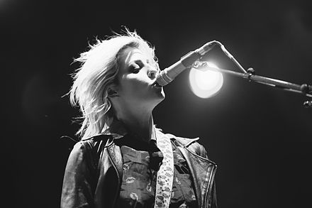 Dalle playing at the 2014 Highfield Festival in Germany Highfield - Brody Dalle.jpg