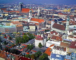 File photo of historic city of Munich, 1985.  Image: Karl Schillinger.