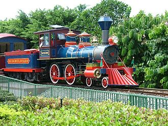 Hong Kong Disneyland - The Hong Kong Disneyland Railroad.