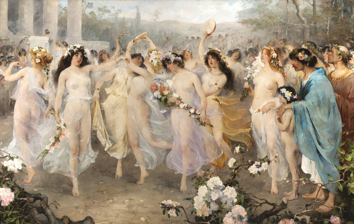 File:Hobbe Smith (1862 - 1942) - Floralia - painting, 1898.jpg ...