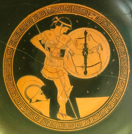 Image result for hoplite armed pottery