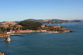 Horseshoe bay and Tiburon seen from the Golden Gate Bridge 1.jpg