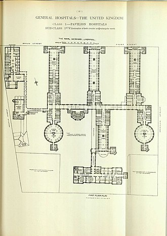 Liverpool Infirmary - Image: Hospitals and Asylums of the World Portfolio of Plans, p. 27