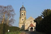 Hotot-en-Auge église Saint-Georges ouest.JPG