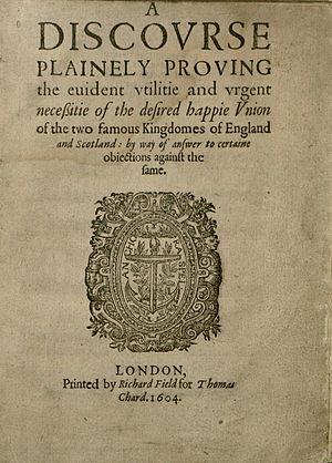 John Thornborough - A discourse plainely proving the euident vtilitie and vrgent necessitie of the desired happie vnion of the two famous kingdomes of England and Scotland, 1604