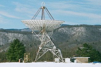Project Ozma - Image: Howard E. Tatel Radio Telescope side