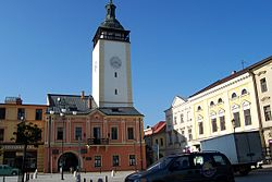 Town square with the town hall