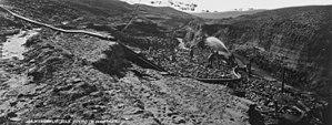 Alder Gulch - Image: Hydraulic gold mining in Montana. Alder Gulch 1871