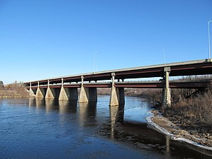 Interstate 495 (Massachusetts) - I-495 bridge over the Merrimack River in Lawrence
