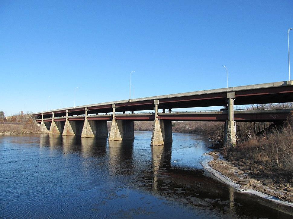 I-495 bridge over the Merrimack River, Lawrence MA