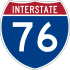 Interstate 76 marker