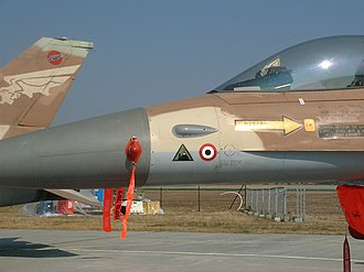 Ilan Ramon - The jet features the triangular emblem of the attack on Osirak, and a Syrian Air Force roundel 'killmark'.