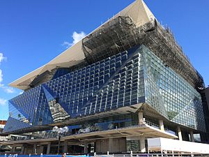 International Convention Centre Sydney - Image: ICC Sydney Convention Center Under Construction, April 2016 (1)