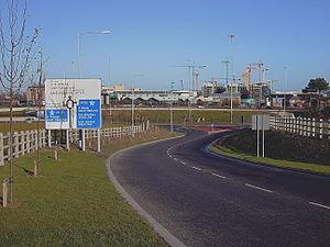 R113 road (Ireland) -  R113 at Sandyford