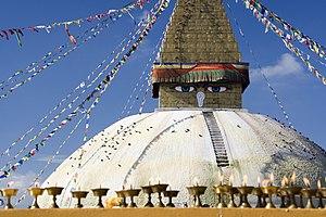 Bodnath Stupa in Kathmandu, Nepal.