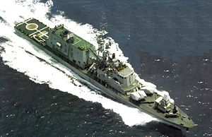 Sa'ar 4.5-class missile boat - INS Geula in 1982.