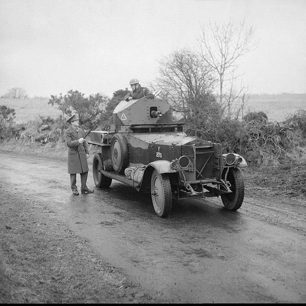 British armored car in Ireland.