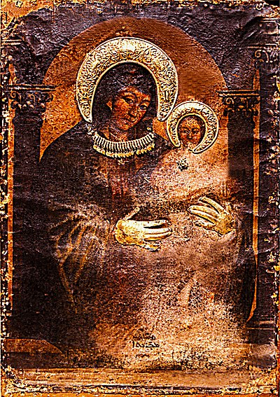 Icon of the Virgin Mary. Icon of the blessed Virgin Mary by Luke the Evangelist.jpg
