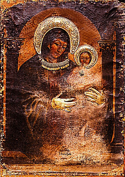 File:Icon of the blessed Virgin Mary by Luke the Evangelist.jpg