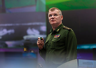 Igor Konashenkov - Konashenkov giving a briefing in 2015.