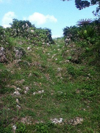 Iha Castle - Image: Iha Castle Battlement from the Bailey