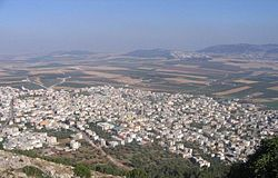 Iksal, as seen from Nazareth Illit