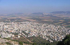 Iksal - Iksal, as seen from Nazareth Illit