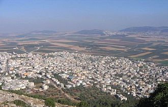 Iksal - Iksal, as seen from Nazareth Illit