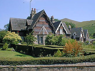 Ilam, Staffordshire - Cottages in the village of Ilam.