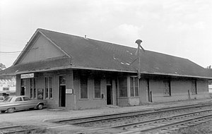 National Register of Historic Places listings in Pike County, Mississippi - Image: Illinois Central Depot, Magnolia, Miss. (28184688971)