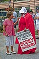 Illinois Congresswoman Jan Schakowsky Speaks with One of the Illinois Handmaids Stop Brett Kavanaugh Rally Downtown Chicago Illinois 8-26-18 3487 (44313184411).jpg