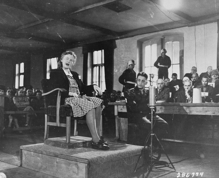 Ilse Koch testifies in her own defense 8 jul 47