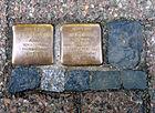 Im Kreise 24, Celle, Synagoge, Stolperstein Adolf Schickler, Jg. 1867, deportiert 1943 Theresienstadt, Tod 12.5.1943, Hulda, 1869 geborene Levy ... Tod 8.1.1945.jpg