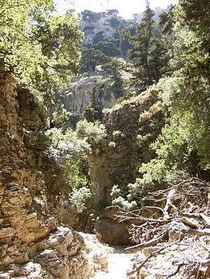 Imbros Gorge - Image: Imbros Gorge (Crete) 002
