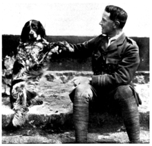 In Flanders fields and other poems, McCrae and a dog.png