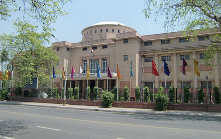 The National Museum in New Delhi is one of the largest museums in India. India national museum 01.jpg