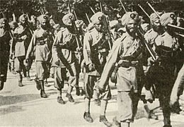 Indian forces on the march in France during first world war.jpg