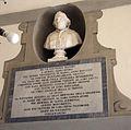 Ingresso delle sale di anna maria luisa de' medici, busto pio VII e lapide 1840.JPG